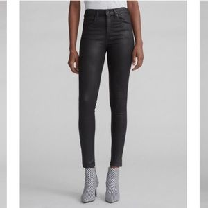 RAG & BONE • coated high rise skinny jeans
